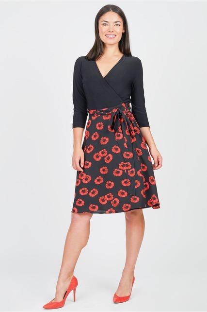 Poppy Print Wrap Dress