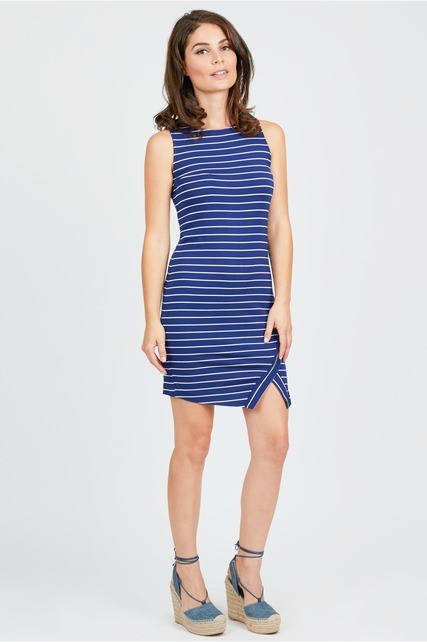Striped Envelope Dress