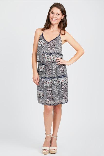 Tie Back Popover Dress