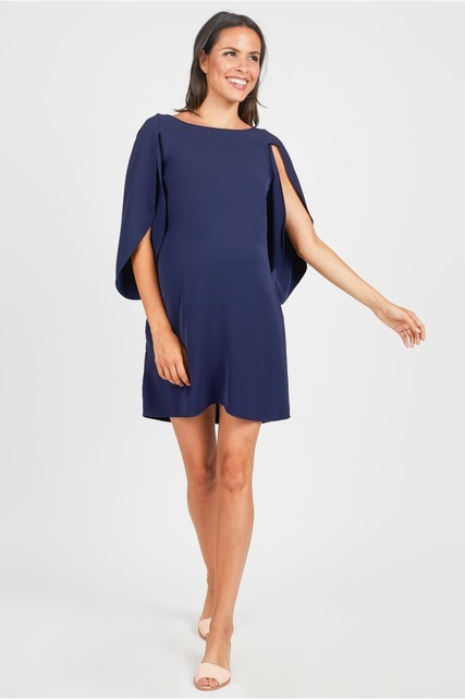 Tulip Sleeve Shift Dress