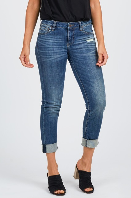 Distressed Rolled Jean