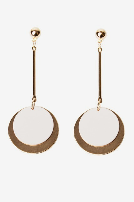 Large Circle Drop Earring