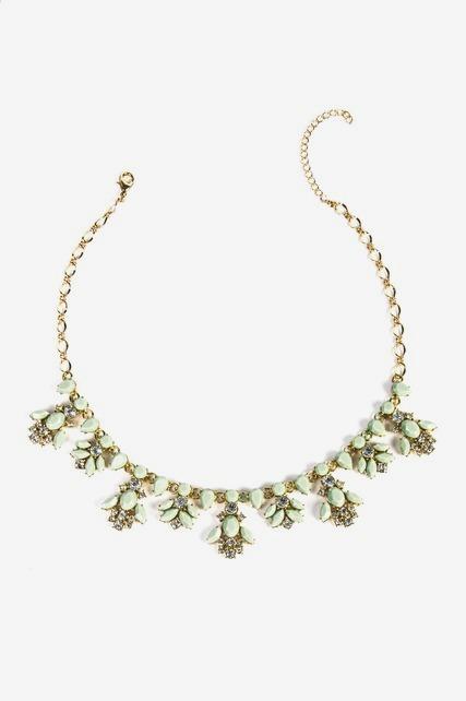 Gemstone Petal Necklace