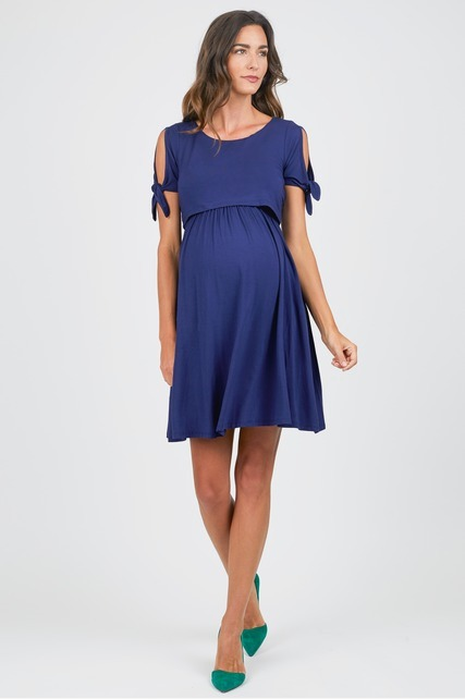 Split Sleeve Nursing Dress