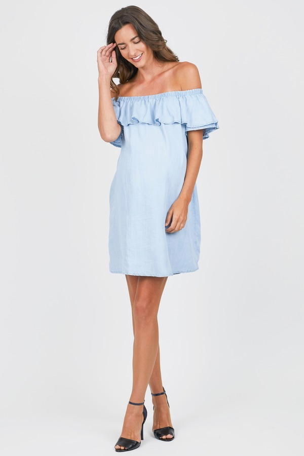 Tencel Ruffle Dress