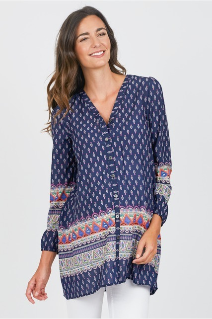 Tie Back Button Down Top