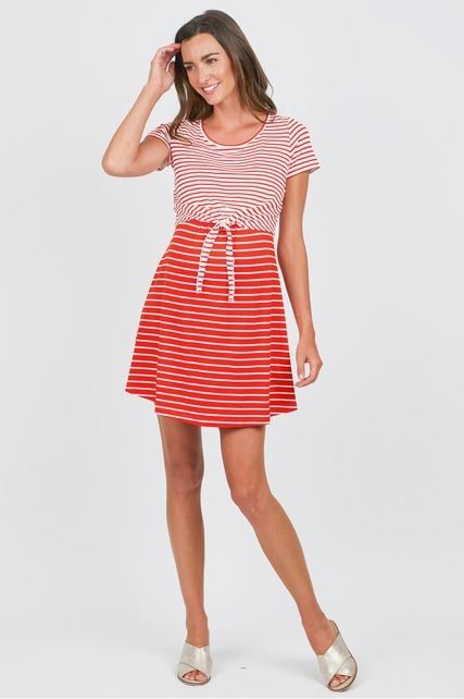 Tie Front Nursing Dress