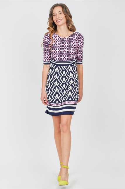 Twin Print Shift Dress
