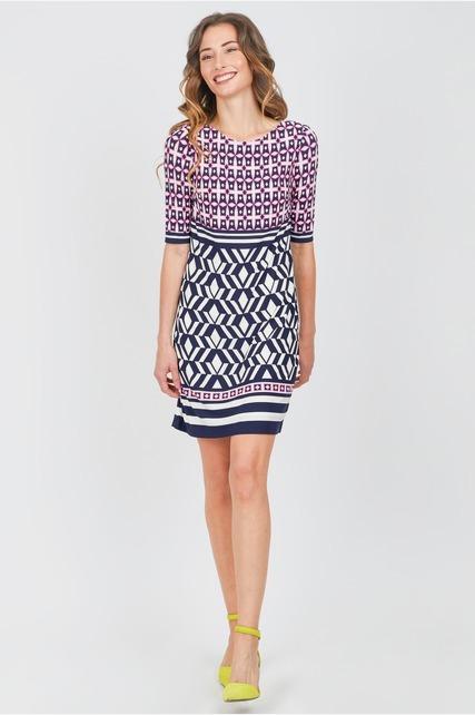 Twin Print Shift Dress