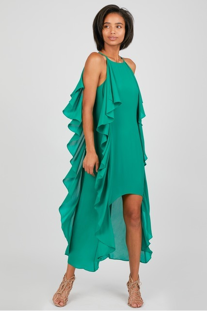 High Low Ruffle Dress