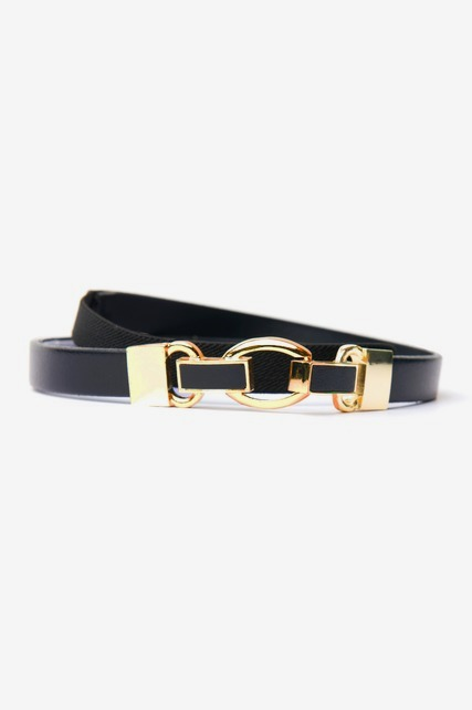 Hook Front Leather Belt