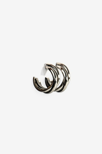 Overlapping Hoops Earring