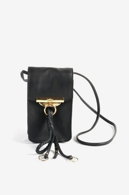 Tassel Leather Mini Crossbody