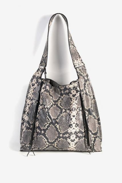 Snakeskin Hobo Bag