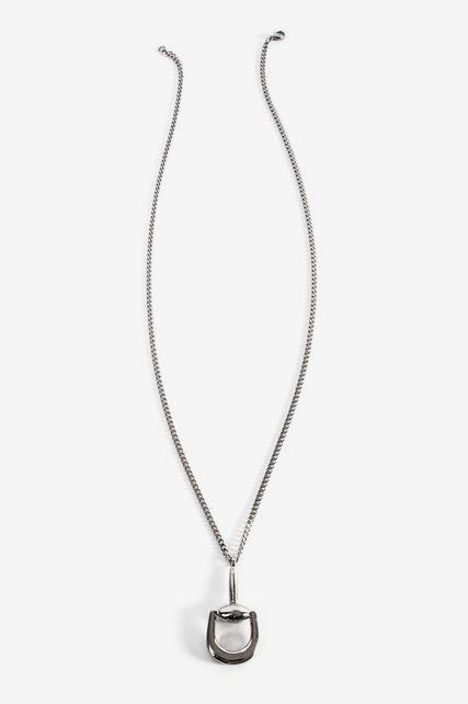 Stirrup Pendant Necklace