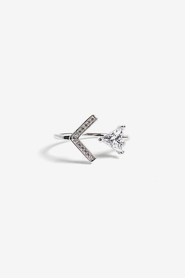 Triangle Crystal Ring