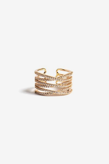 Stacked Criss Cross Ring