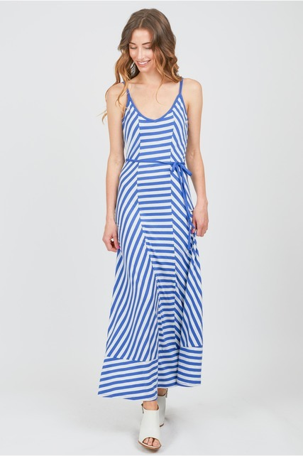 Contrast Striped Maxi
