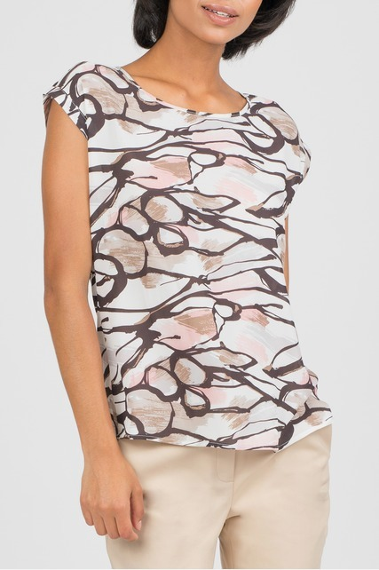 Abstract Scribble Print Blouse