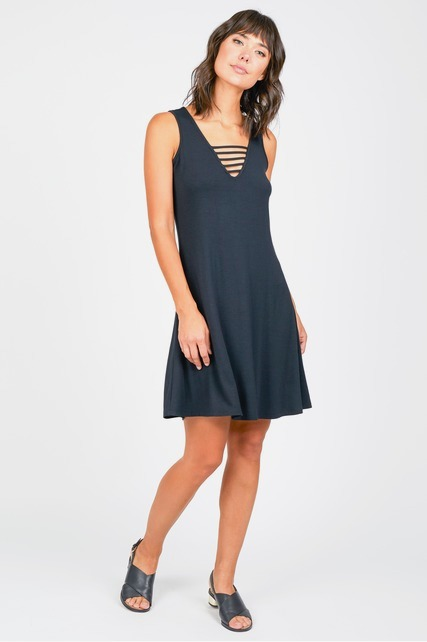 Strappy V Neck Dress
