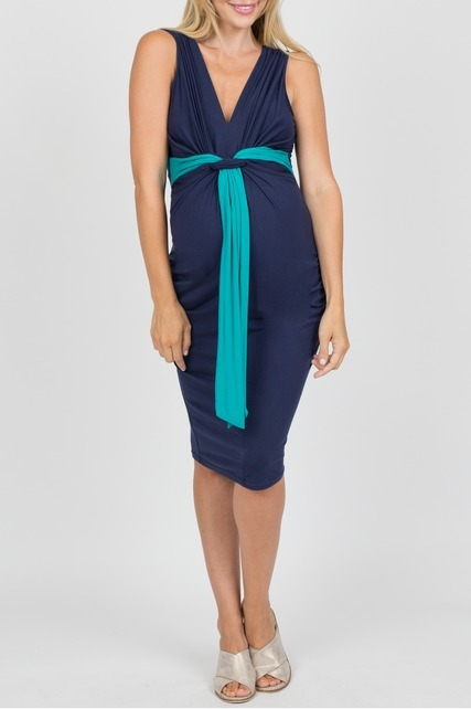 Twist Tie Front Dress