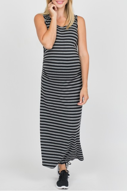 Side Shirred Maxi Dress