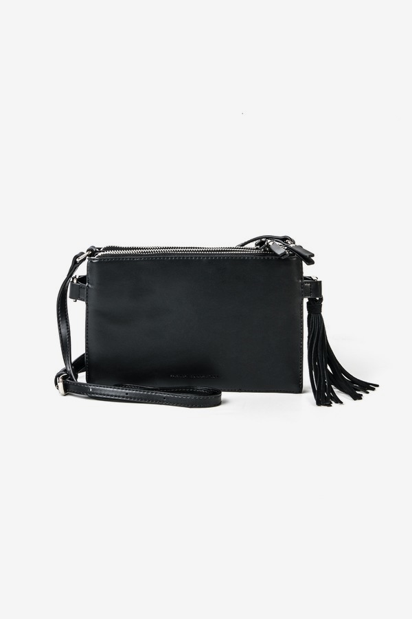 Sueded Tassel Crossbody