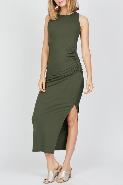 Sleeveless Ruched Maxi