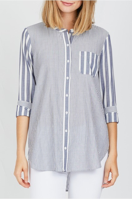 Mixed Pinstripe Shirt