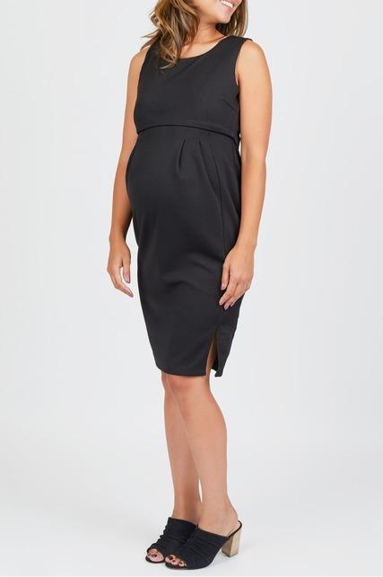 Side Slit Nursing Dress