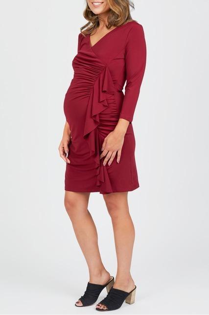 Side Ruffle Wrap Dress