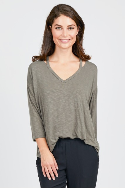 Cut Out Neck Top