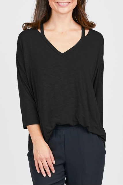 Cut Out Neckline Top