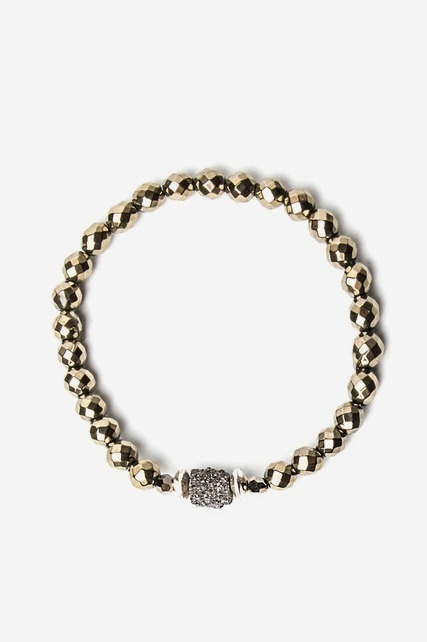 Pyrite Stretch Bracelet