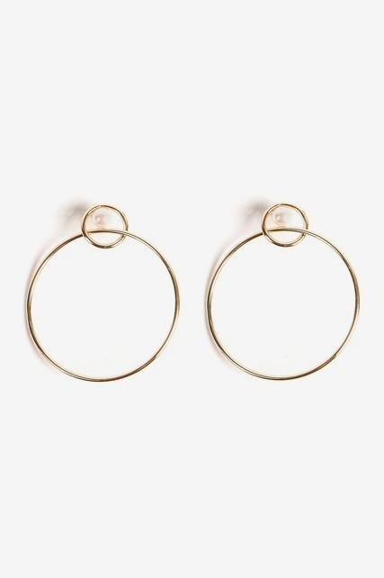 Intertwined Hoop Earring