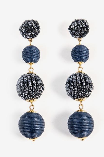 Beaded Ball Earring