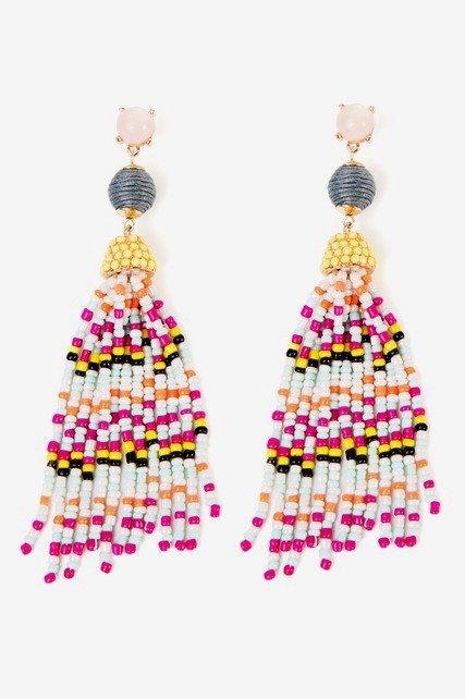 Beaded Fringe Earring
