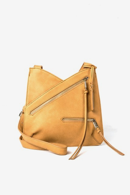 Asymmetrical Zip Crossbody