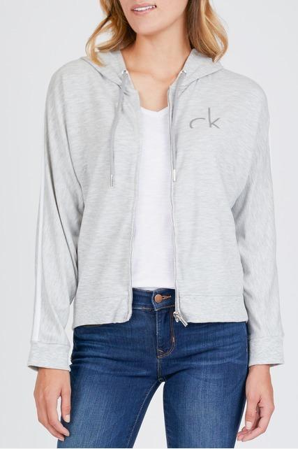 CK Logo Zip Up Hoodie