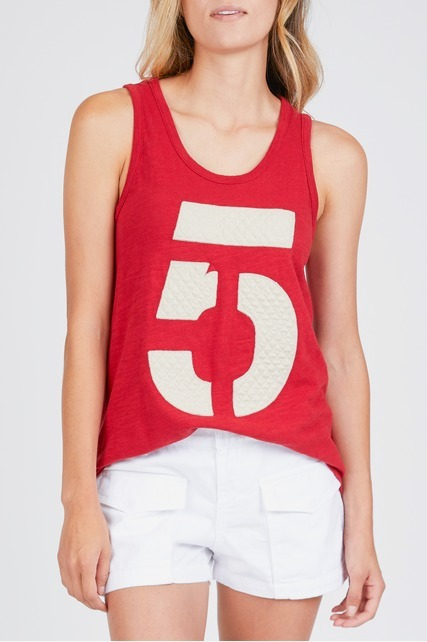 Quilted 5 Patch Tank