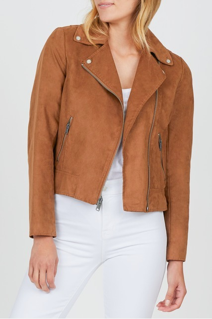 Side Lace Up Moto Jacket