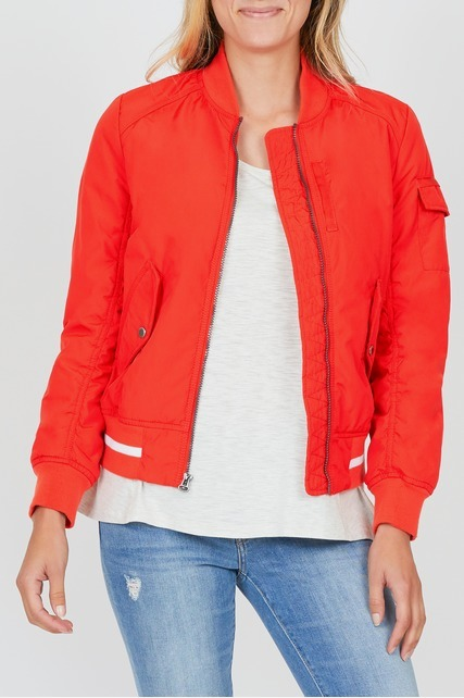 Flap Pocket Bomber Jacket
