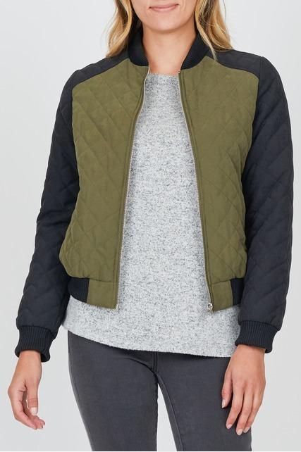 Contrast Sleeve Bomber