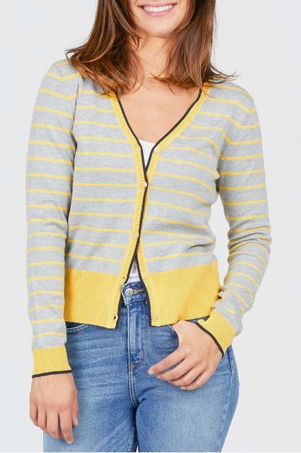Color Block Striped Cardigan