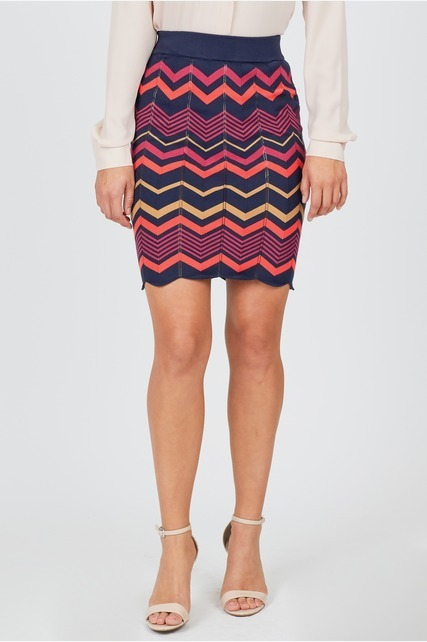 Zig Zag Sweater Skirt