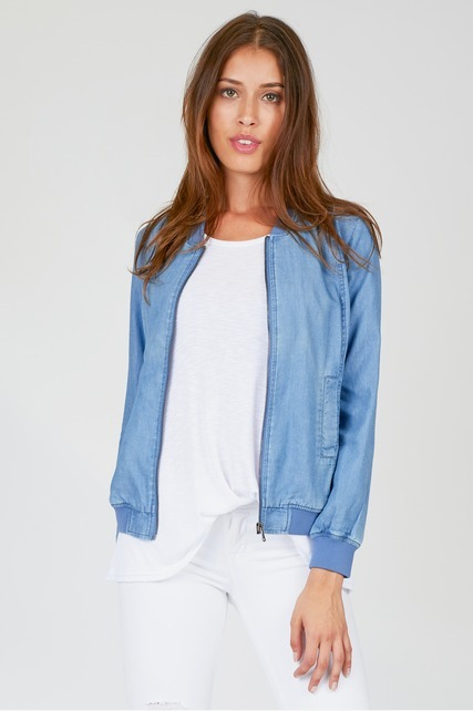 Chambray Bomber Jacket