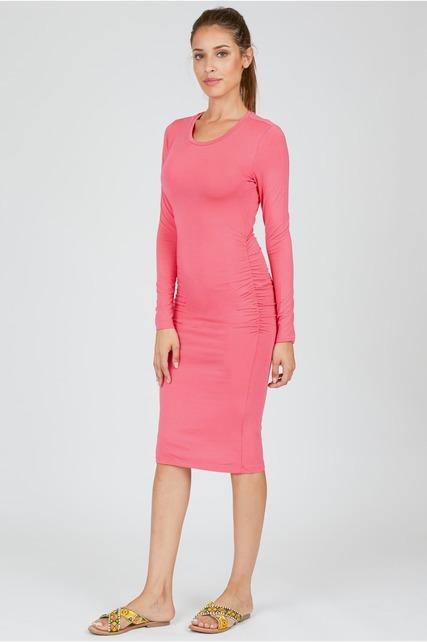 Ruched Scoop Neck Dress