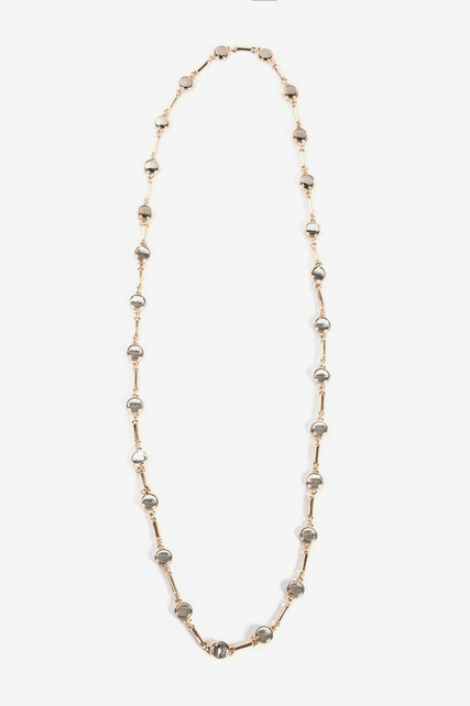 Two Tone Station Necklace