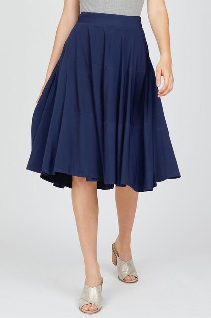 Flared Wrap Skirt