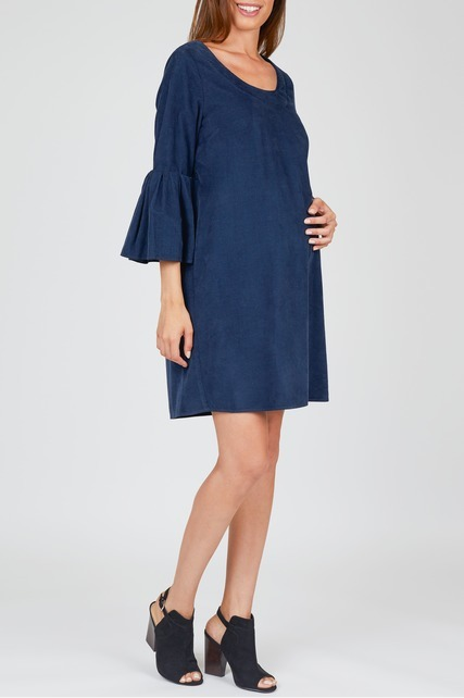 Open Back Bell Sleeve Dress
